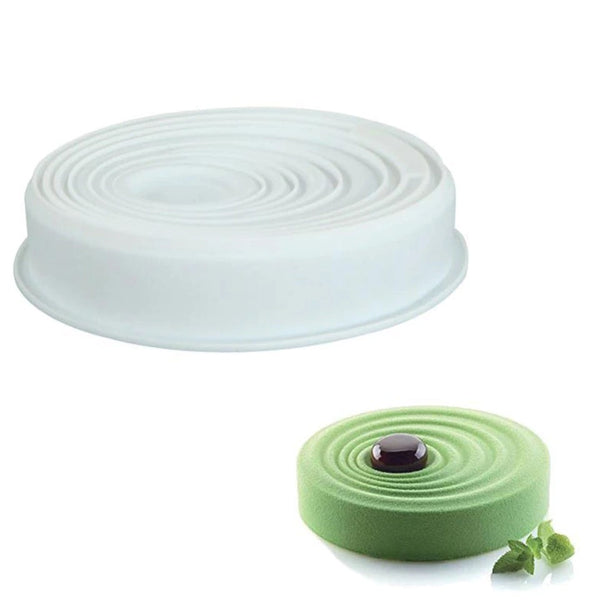 Premium Silicone cake mold, white color, 3D shape, for mousse or baking - OneStoreOnline.com