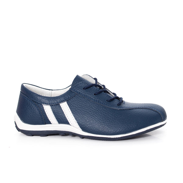 Women casual, sport shoes, real leather, color blue - OneStoreOnline.com