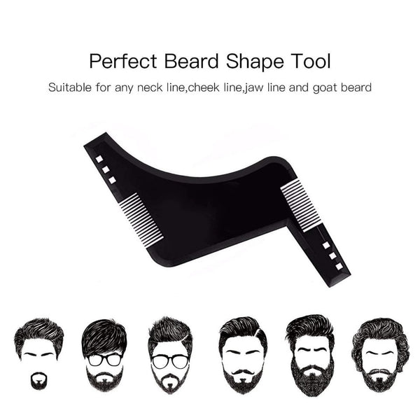 Beard shaping tool, black color - OneStoreOnline.com