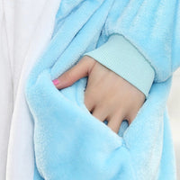 Winter pajama blue cat for women, onesie - OneStoreOnline.com