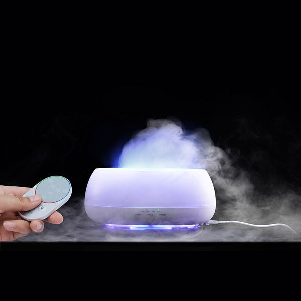 SMART aromatherapy diffusor, ultrasonic, 500 ml, humidifier, remote control, 7 colors - OneStoreOnline.com