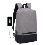 Smart backpack for laptop, with USB cable included, grey color, model Alex - OneStoreOnline.com