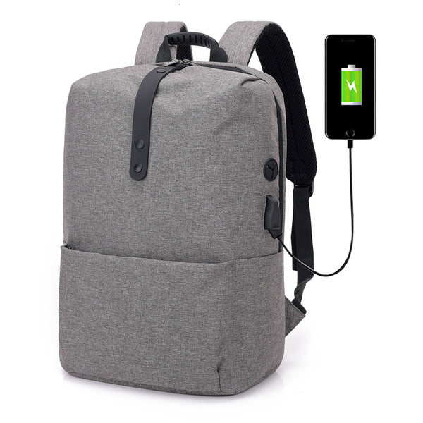 Smart backpack for laptop, with USB cable included, grey, model mo - OneStoreOnline.com