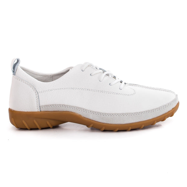 Women casual, office shoes, real leather, color white - OneStoreOnline.com