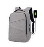 Smart backpack for laptop, with USB cable included, black or grey - OneStoreOnline.com