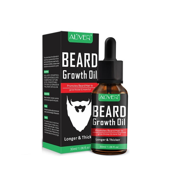 Oil growth accelerating beard, Aliver Growth Oil, 30 ml - OneStoreOnline.com
