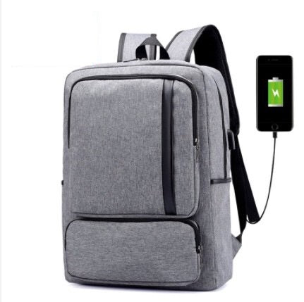 Smart backpack for laptop, with USB cable included, grey, model Remus - OneStoreOnline.com