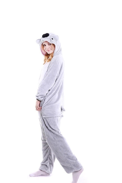 Winter pajama, koala model, for women, fluffy onesie - OneStoreOnline.com