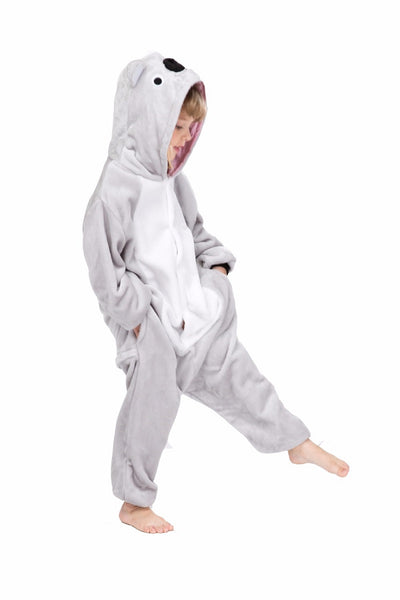 Winter pajama, koala model, for kids, fluffy onesie - OneStoreOnline.com