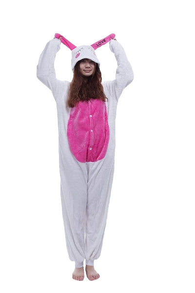 Winter pajama, rabbit model, for adults, fluffy onesie - OneStoreOnline.com