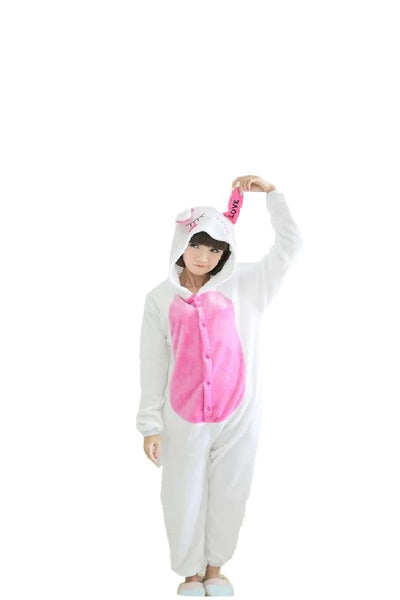 Winter pajama, rabbit model, for kids, fluffy onesie - OneStoreOnline.com