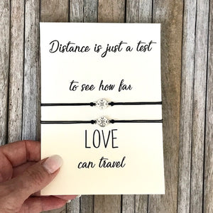 Long distance relationship bracelet set for 2