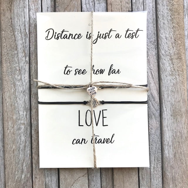 754f37486b765 No matter where, Long distance relationship gifts, Going away gifts, Pinky  promise bracelets