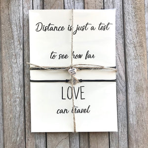 No matter where, Long distance relationship gifts, Going away gifts, Pinky promise bracelets