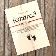 Godmother proposal wish bracelet