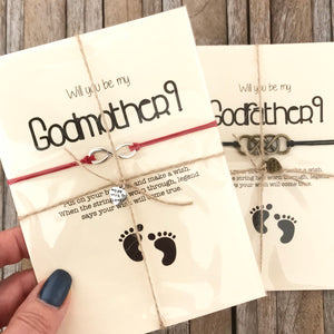 Godfather proposal wish bracelet gift
