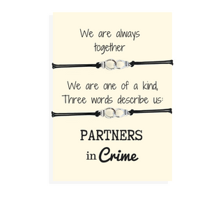 Partners in crime friendship bracelet set