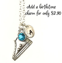 Personalized silver windmill necklace with initial charm, Best friend necklace