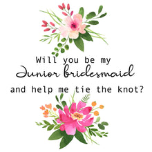 Junior Bridesmaid Bracelet, Tie the Knot Bracelet, Personalised Initial Bridesmaid Gift, Bridesmaid Proposal Gift, Knot Bracelet