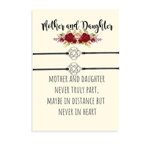 Mother Daughter Matching Bracelets, Mom Daughter Card, Mother's Day Gift, Second Mom, Stepmom, Adopted Mom, Foster Mom, Mother-in-Law Gift