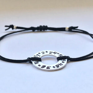 Customized coordinates bracelet