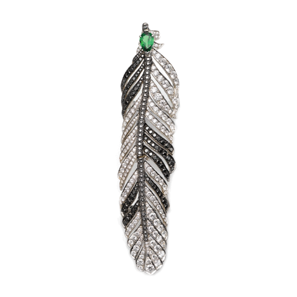 "Dream Feather ""B/W"" Ring"