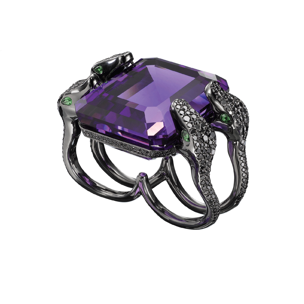 Jungle Fever Amethyst Ring