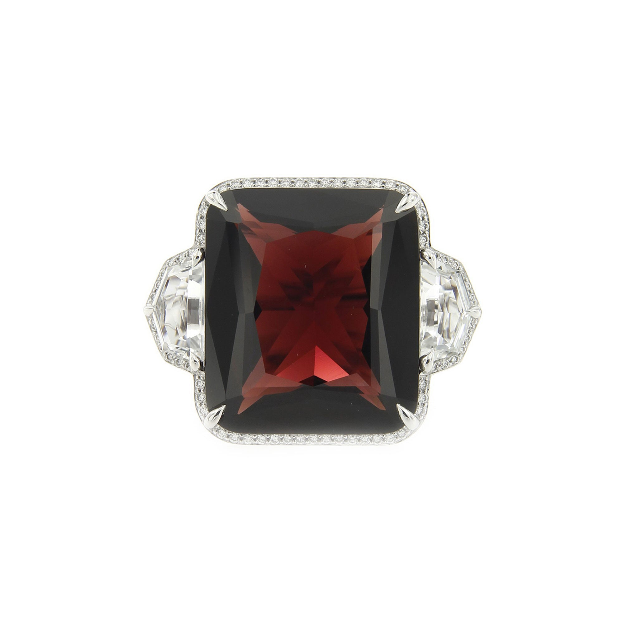 vintage birthstone by style for and ring january gorgeous christopher evans the diamond garnet