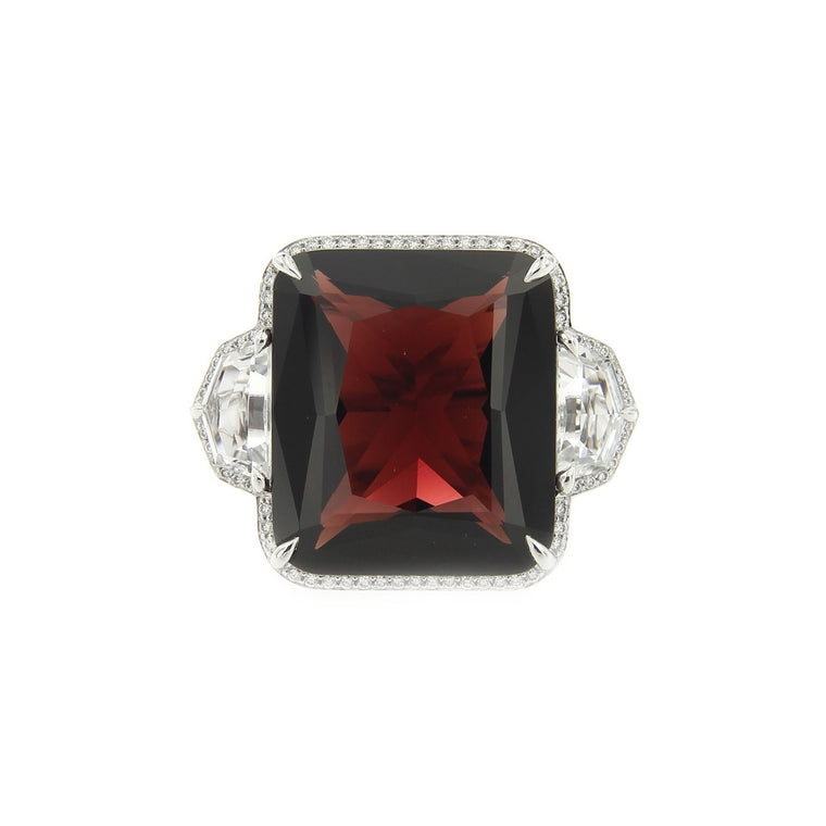 """One and Only"" Garnet Ring"