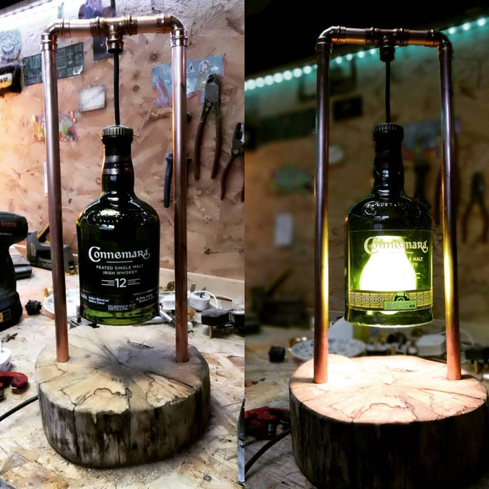 Liquor, Wood and Copper lighting