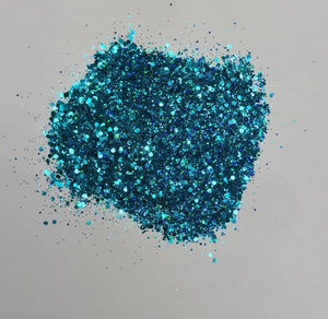 'Oceania' Chunky Holographic Blue Glitter