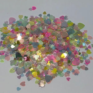 'Sweethearts' Chunky Multicolour Heart Glitter