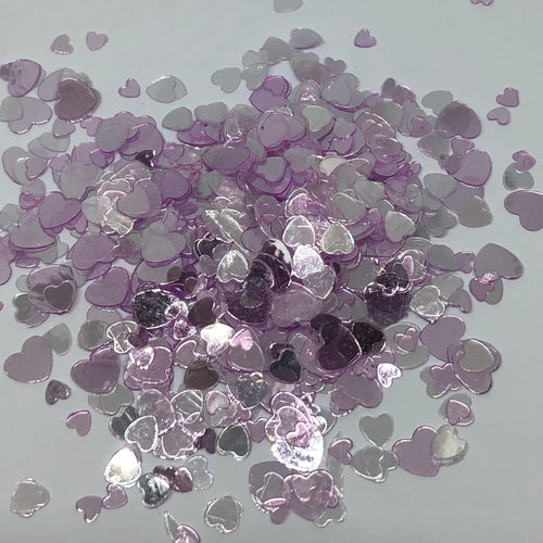 'Lavender Kiss' Chunky Purple Heart Glitter
