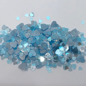 'Cold Hearted' Chunky Blue Heart Glitter