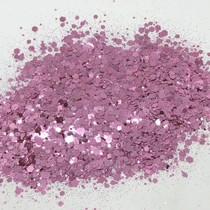 'Pink Gin' Chunky Dusty Pink Glitter