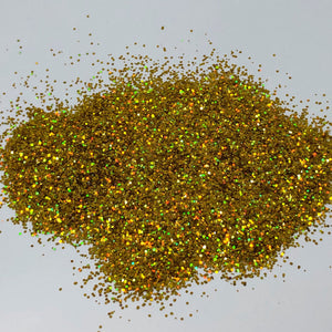'Hit the Jackpot' Chunky Holographic Gold Glitter