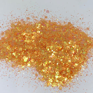 'Sunset Blvd' Chunky Iridescent Orange Glitter