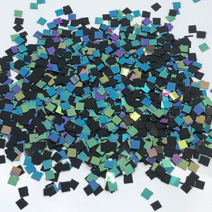 'Remix' Chunky Holographic Black Squares