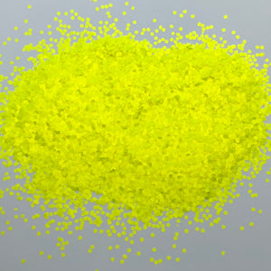 'Caution' Chunky Neon Yellow Glitter