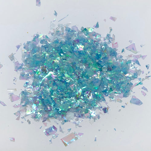 'Break the ice' Chunky Iridescent Light Blue Flakes