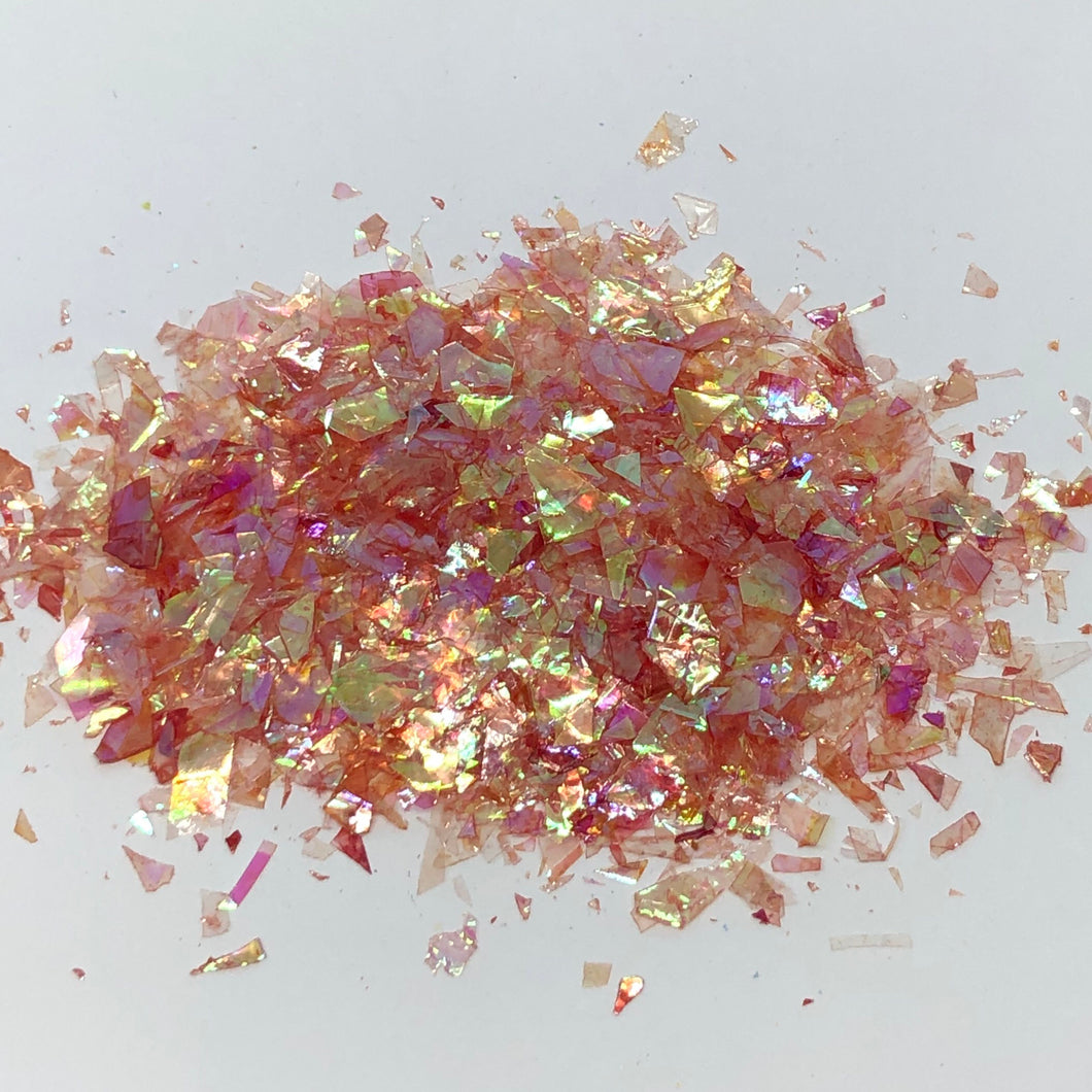 'Fired up' Chunky Iridescent Red Flakes
