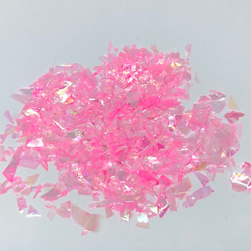 'Doll' Chunky Iridescent Pink Flakes