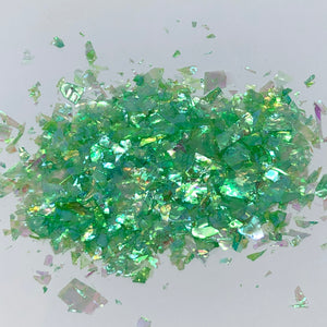 'Wicked' Chunky Iridescent Dark Green Flakes