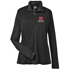 Amanda E. Stout Ladies Quarter Zip Pullover - Black