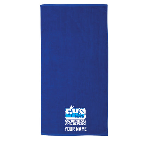 Customized Beach Towel - Royal Blue