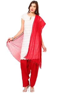 Castle Red Salwar Dupatta