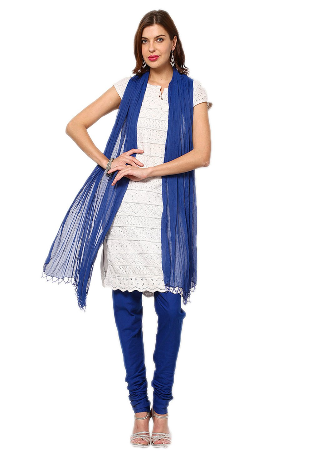 Castle Royal Blue Churidar Dupatta