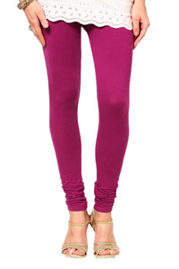 Magenta Cotton Lycra Leggings