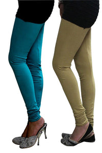 Castle Pack of 2 Multicolor Solid Leggings