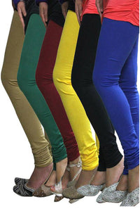 Castle Pack of 6 Multicolor Solid Leggings